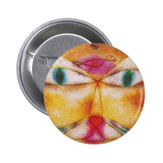 Gato y pájaro - arte abstracto - Paul Klee Pin