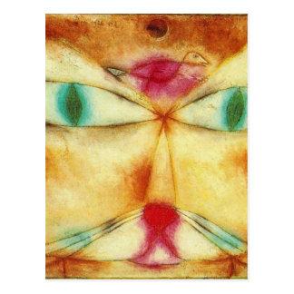 Gato y pájaro de Paul Klee Tarjetas Postales