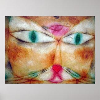 Gato y pájaro Paul Klee Impresiones