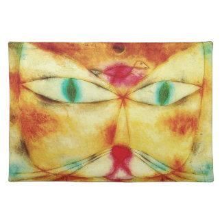 Gato y pájaro Placemat de Paul Klee Mantel