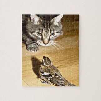 Gato y pájaro rompecabezas