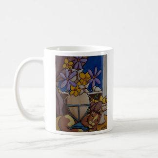 Gato y peras taza de café