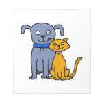 Gato y perro libretas para notas