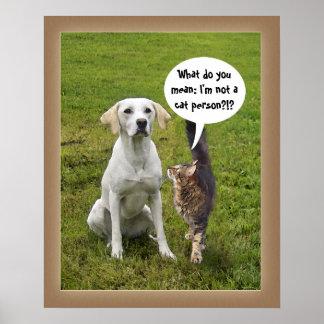 Gato y perro (personalizable) póster