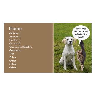 Gato y perro tarjeta de negocio