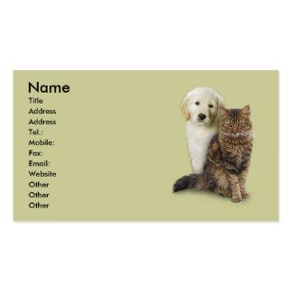 Gato y perro tarjetas de visita