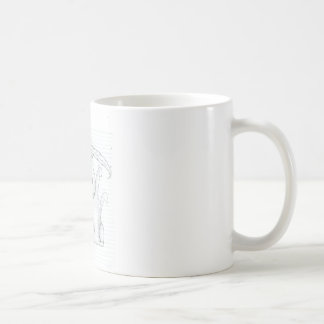 Gato y pluma taza de café