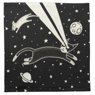 Gato y ratón de Astro Servilleta Imprimida