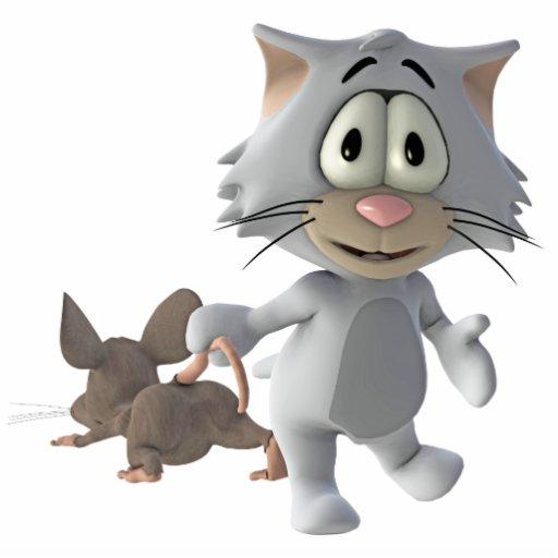 gato y ratón esculturas fotográficas