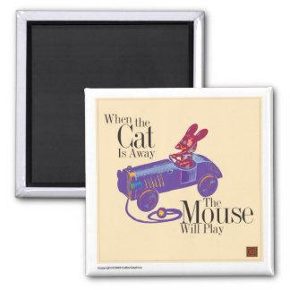 Gato y Ratón-Imanes Imán Cuadrado