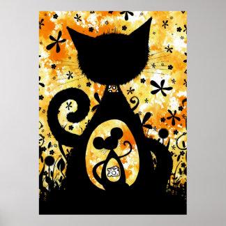 Gato y ratón - impresión del poster