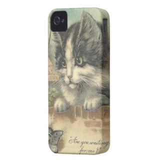 Gato y ratón - iPhone 4/4S del vintage iPhone 4 Case-Mate Cobertura