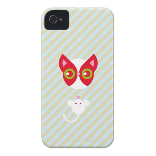 Gato y ratón iPhone 4 cárcasa