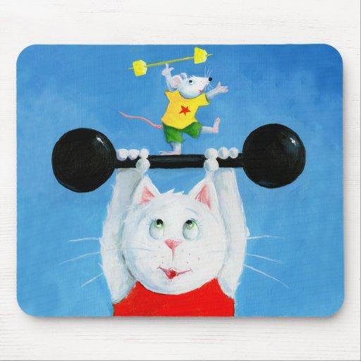 Gato y ratón Mousepad divertido del entrenamiento