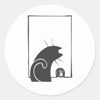 Gato y ratón etiquetas