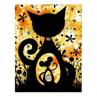 gato y ratón postal