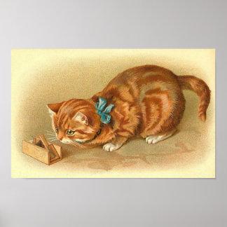 """""""Gato y ratón """" Póster"""