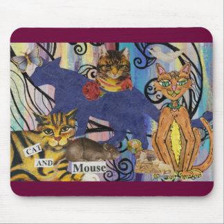 Gato y ratón alfombrilla de ratón