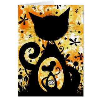 gato y ratón tarjeta de felicitación