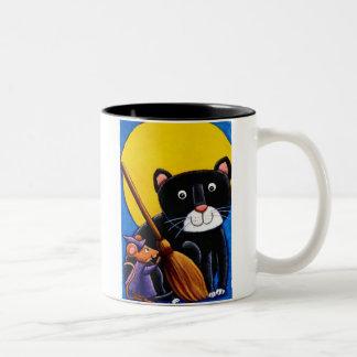 gato y ratón taza dos tonos