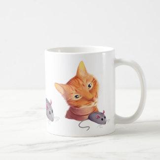 Gato y ratón taza clásica