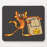 Gato y ratonera del dibujo animado tapetes de raton