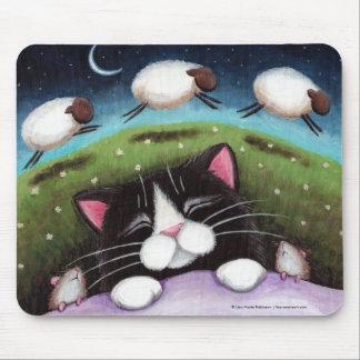 Gato y ratones el dormir que soñan con las ovejas  tapete de raton