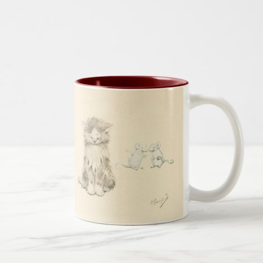 Gato y ratones taza