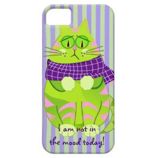 Gato y texto gruñones lindos de encargo iPhone 5 carcasa