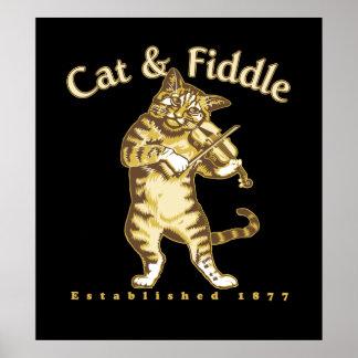 Gato y violín poster