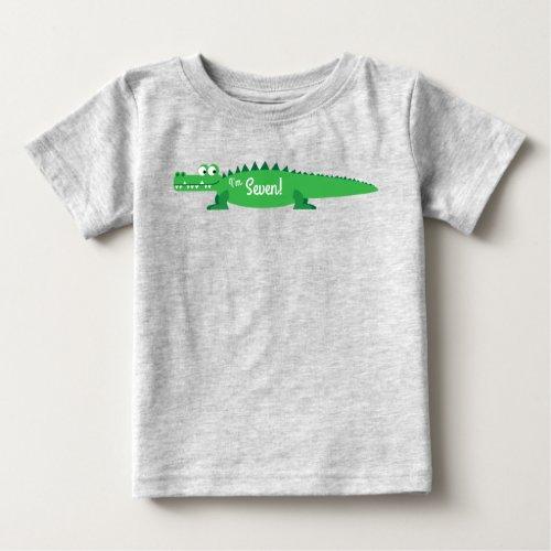 Gator Alligator Crocodile Kids 1st Birthday Party Baby T-Shirt