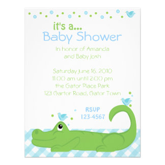 Gator and Blue Birds Invitations