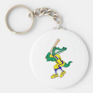 Gator Baseball Basic Round Button Keychain