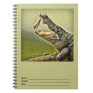 Gator Catching Lunch Wildlife Photography Spiral Notebook
