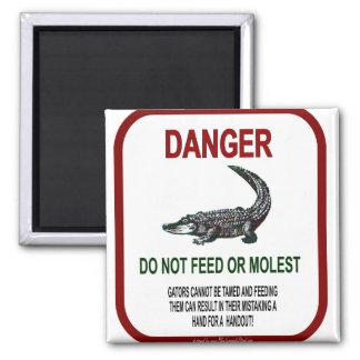 Gator Danger 2 Inch Square Magnet