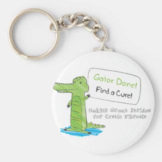 Gator Done! Basic Round Button Keychain