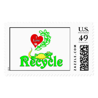 Gator Gab :-).I Love To Recycle. Stamp