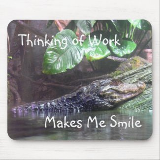 'Gator Grins: Thinking of Work - Mousepad mousepad
