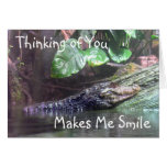 'Gator Grins: Thinking of You - Greeting Card