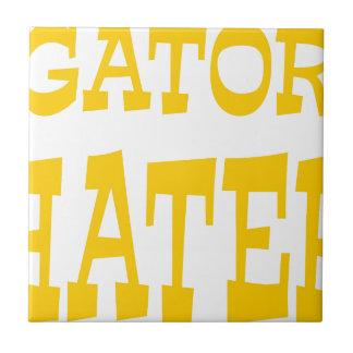 Gator Hater Athletic Gold design Ceramic Tile