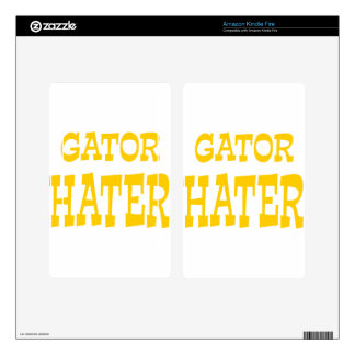 Gator Hater Athletic Gold design Decal For Kindle Fire