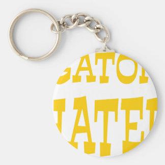 Gator Hater Athletic Gold design Keychains