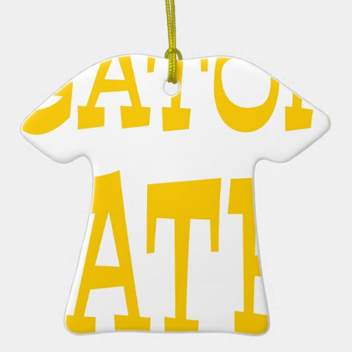 Gator Hater Athletic Gold design Christmas Tree Ornaments