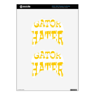 Gator Hater Athletic Gold design Xbox 360 Controller Decal