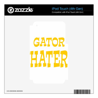 Gator Hater Athletic Gold design Skins For iPod Touch 4G