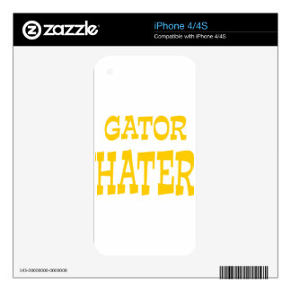 Gator Hater Athletic Gold design Skins For The iPhone 4S