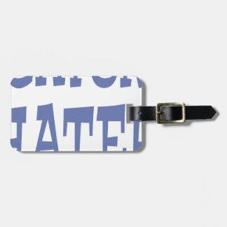 Gator Hater Baby Blue design Luggage Tag