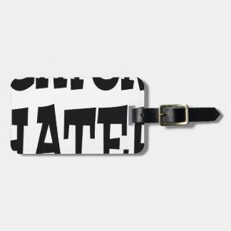 Gator Hater Black design Luggage Tag