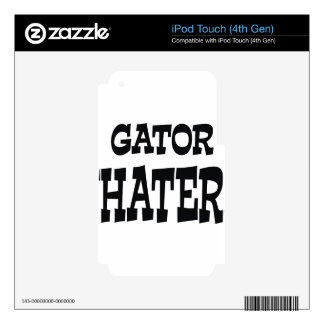 Gator Hater Black design iPod Touch 4G Decal