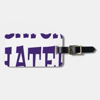 Gator Hater Blue design Luggage Tag